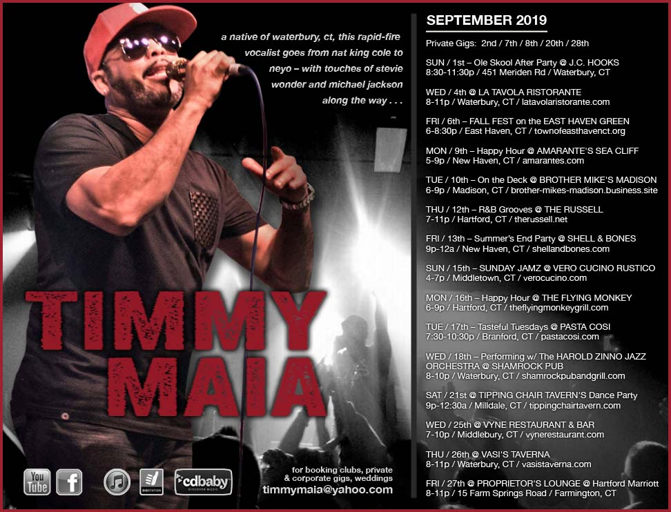 Timmy Maia's Performance Dates